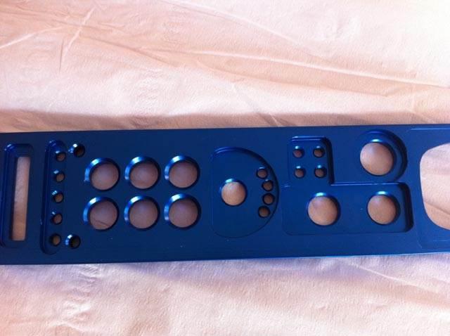 CNC machining and blue anodising
