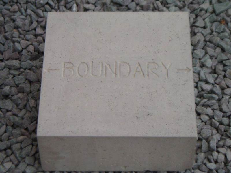 Concrete Marker Block - Boundary