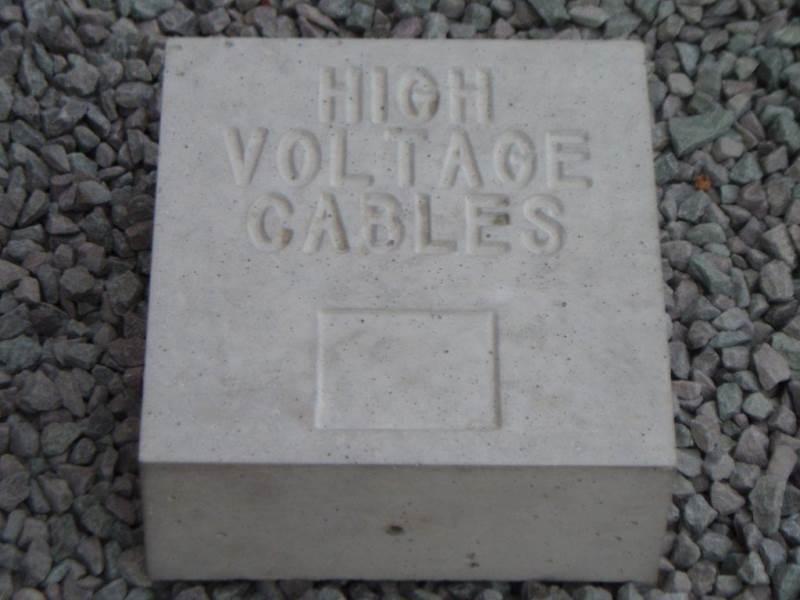 Concrete Marker Block - High Voltage Cables