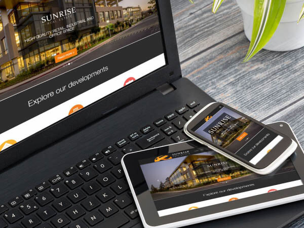 Modern responsive websites designed for business