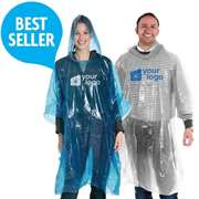Disposable 0.02mm PE Rain Poncho
