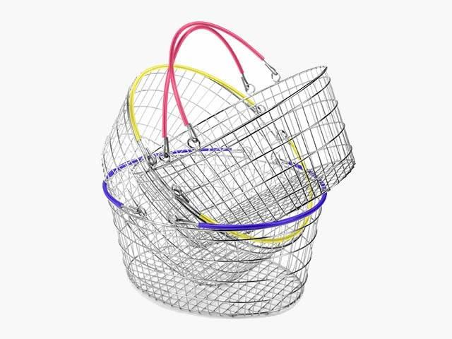 Ellipse Oval Wire Retail Hand Basket - Exclusive