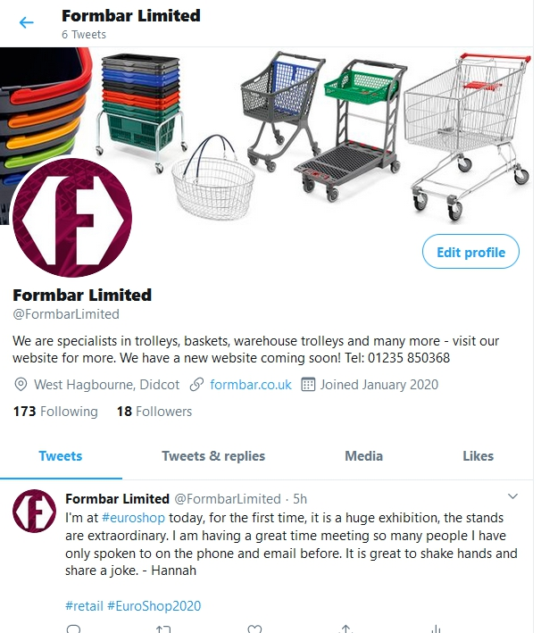 Formbar Limited are finally on social media