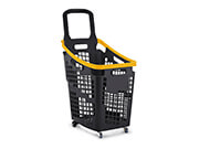 Tall 4 Wheel Trolley Basket