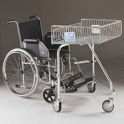 Disabled Shopping Trolley for wheelchair
