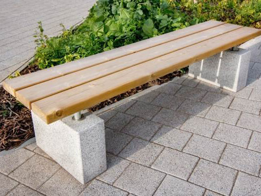 Sheldon Timber Topped Bench