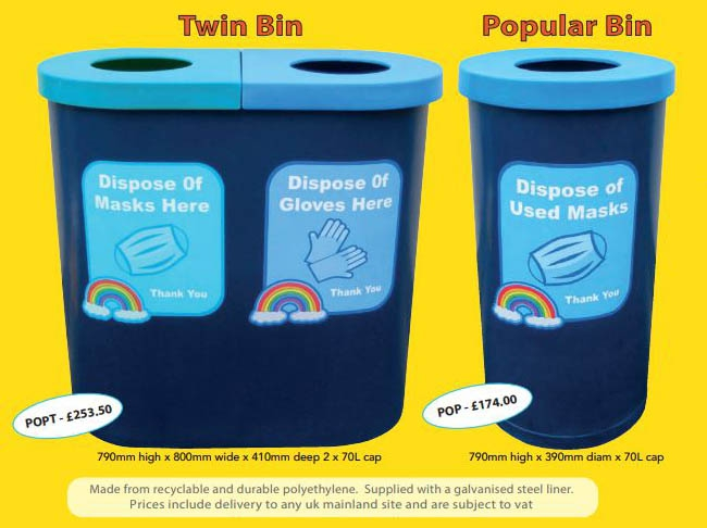 PPE Disposal Bins
