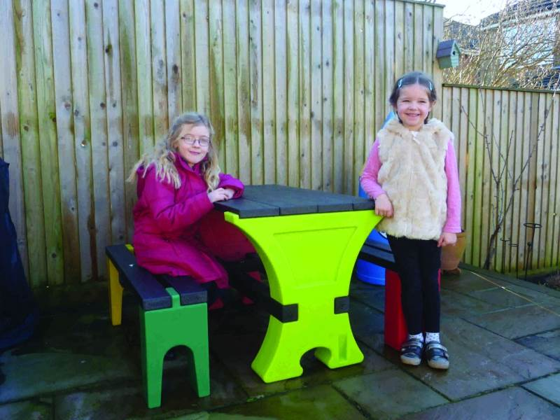 Early Years Picnic Tables and Litter Bins