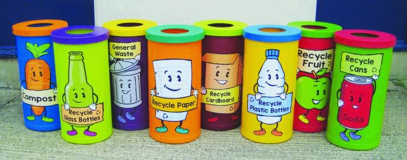 Eye Catching Recycling Bins