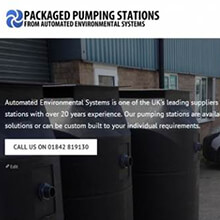 Packaged Pumping Stations website from AES