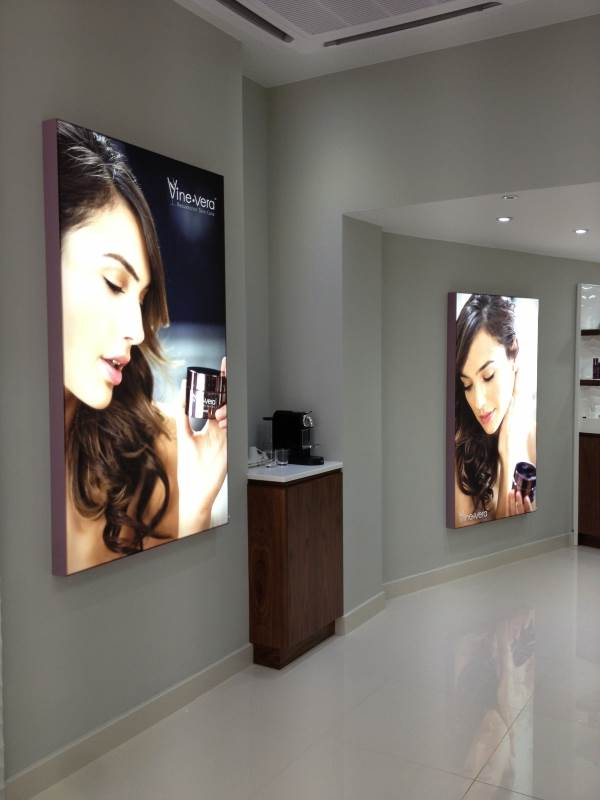 Vibrant retail light boxes