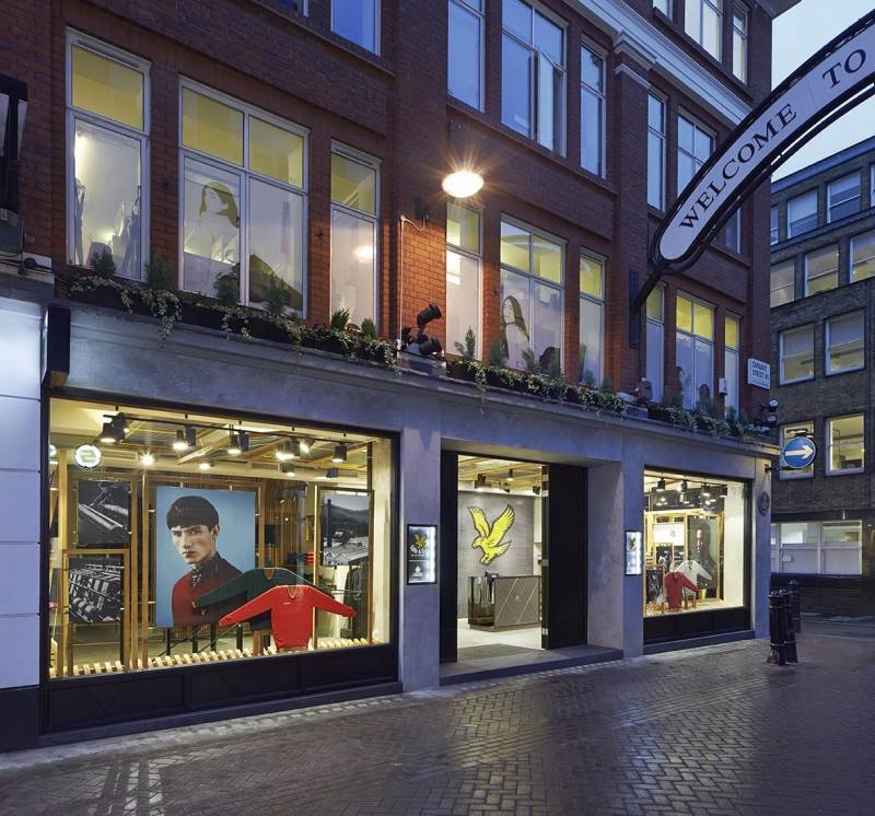 Carnaby Street retail fabric light boxes