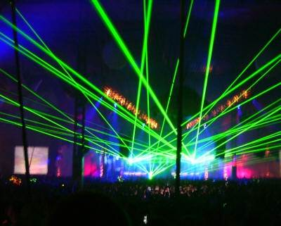 Laser Show at Global Gathering