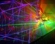 Laser System Enhancing An Art Exhibition
