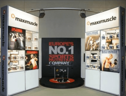 Maximuscle Modular Exhibition Display