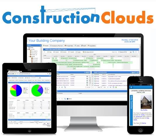 ConstructionClouds for desktops, tablets and mob
