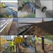 Flood management uses of plastic piling