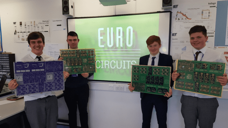 Wigan UTC students receive a Master class in PCB manufacturing from Eurocircuits