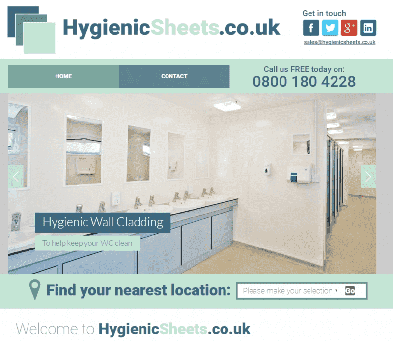 New Website Launched - hygienicsheets.co.uk