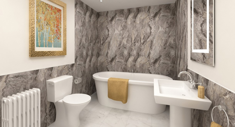 Cappucino Stone Toffee Marble Wetwall