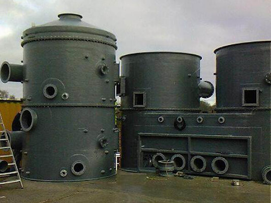 Sections of V-tex Vessels