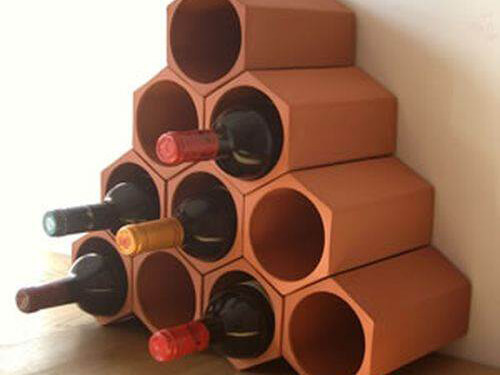 Modular Terracotta Wine Racks