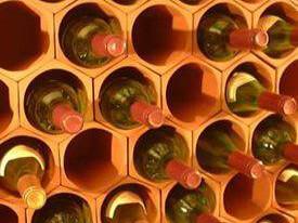 Terracotta 50 bottle modular wine rack