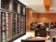 Ceiling Height Restaurant Wine Wall