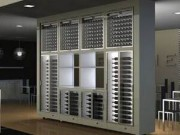 Standing Modular Multi-Zone Wine Wall