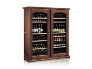 Wood wine cabinet with glass doors