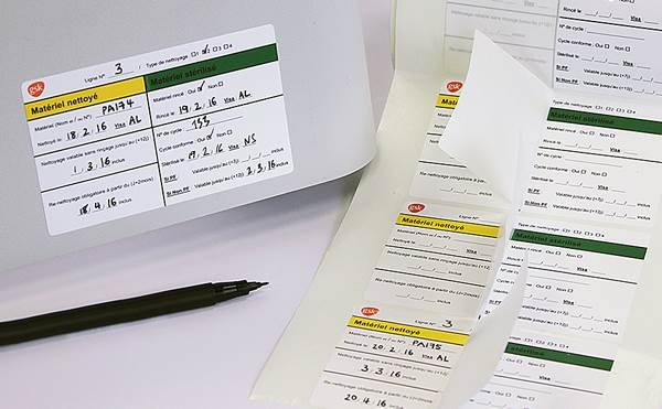 Durable, protected handwritten data labels.