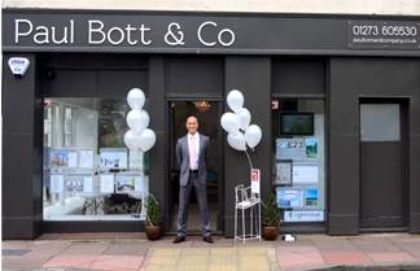 Paul Bott & Co, estate agent signage