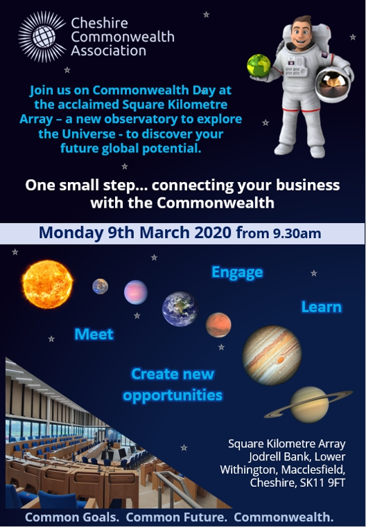 Come and Celebrate Commonwealth Day at the Square Kilometre Array in Cheshire