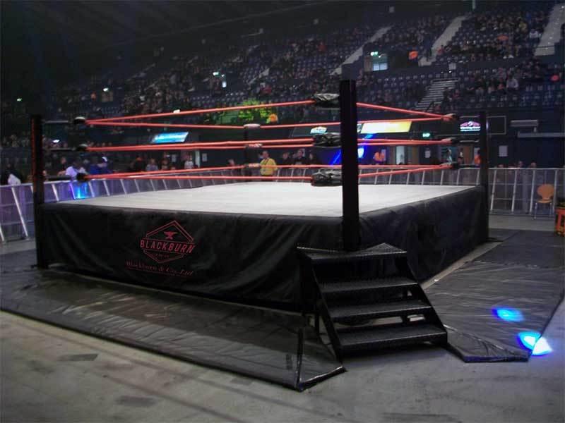 Bespoke Wrestling Ring With Custom Steps