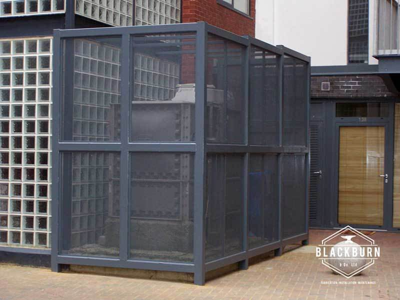 Galvanised Security Fencing