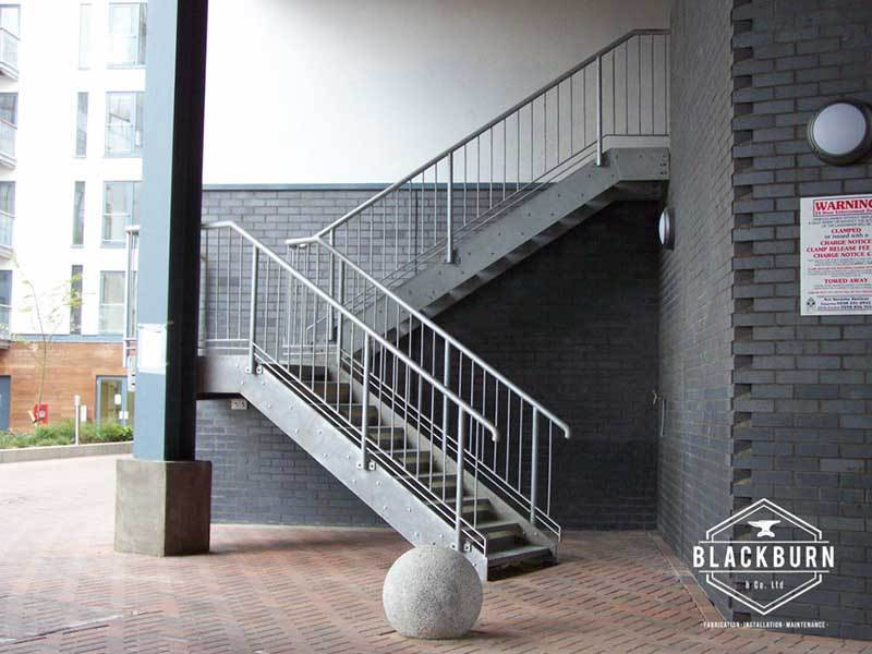 Metal Handrail and Staircase