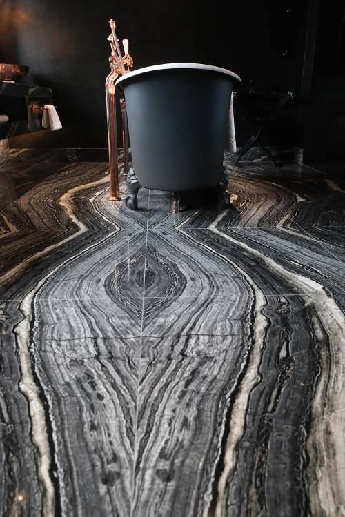 Bookmatched Marble for Boutique Hotel
