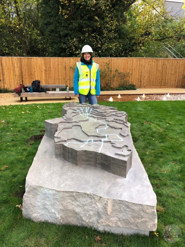 Course and Flow - a stone sculpture by Rachael Champion
