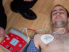 Automated external defibrillator training course