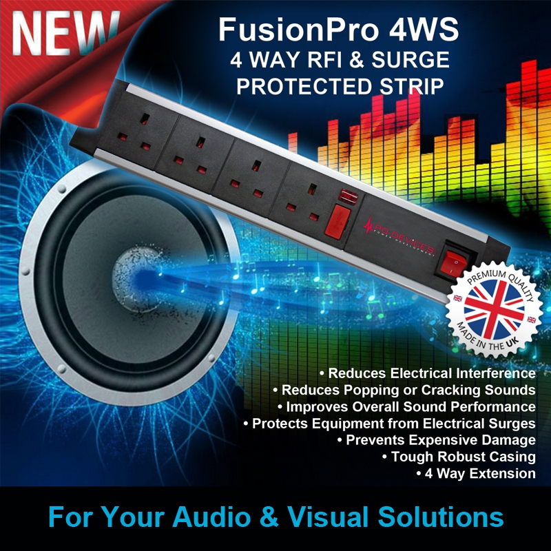 PD Devices NEW FusionPro 4WS Surge Protected & RFI Filtered Socket Stri