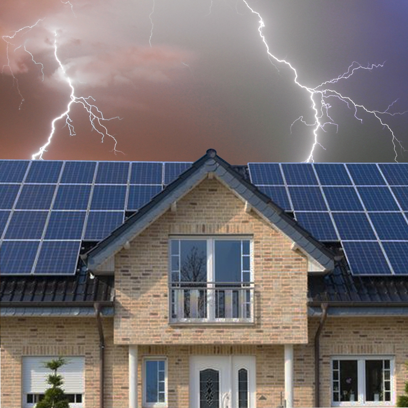 Photovoltaic Solar Generator Systems need Surge Protection