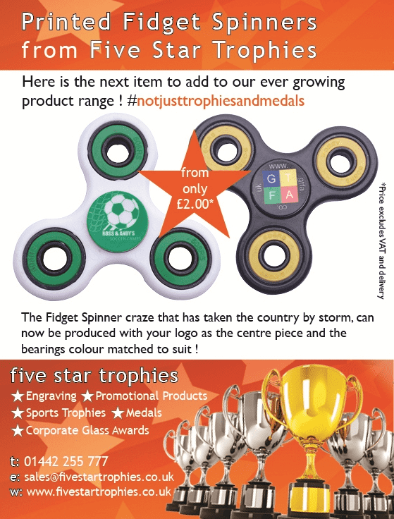 Printed Fidget Spinners from Five Star Trophies
