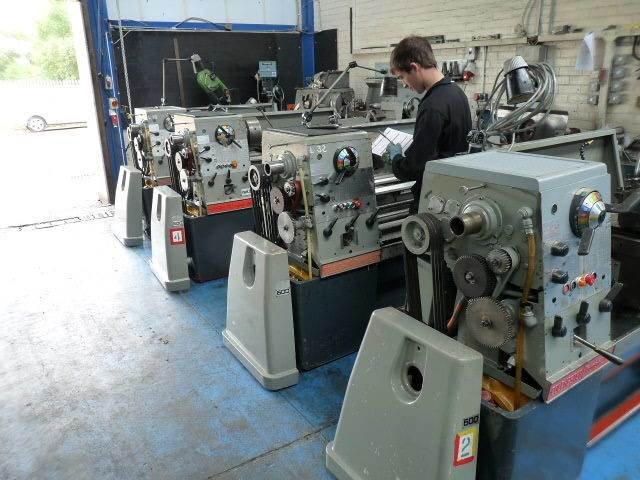 Machinery being prepared for sale