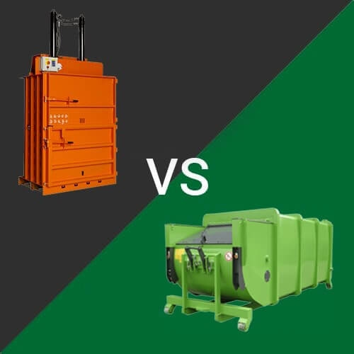 What's the difference Between a Recycling Baler and a Waste Compactor?