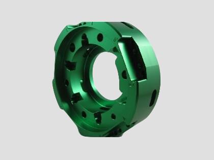 Aluminium Flange Green Anodised