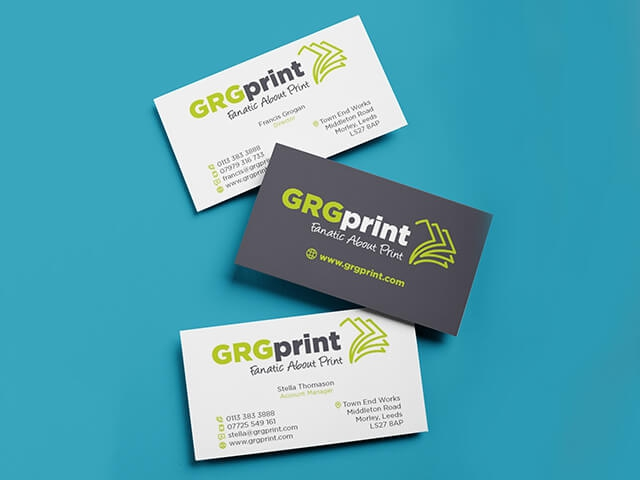 Solid Colour Business Cards