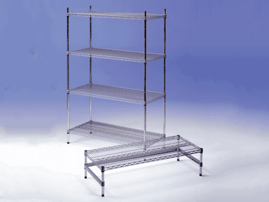 """Silver Seal"" Powder Coated Wire Shelving System"