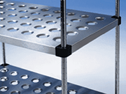 Stainless Steel Perforated Shelving System