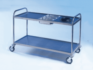 Waste and Cutlery Steel Trolleys