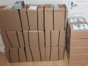 Boxes of leaflets ready to get delivered